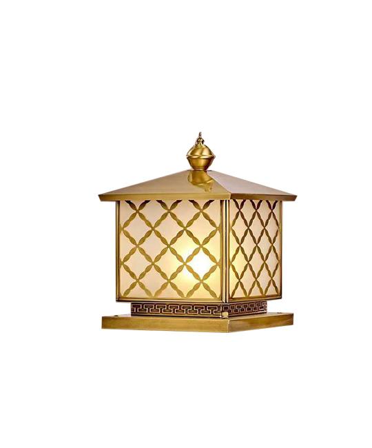 纯铜柱头灯5