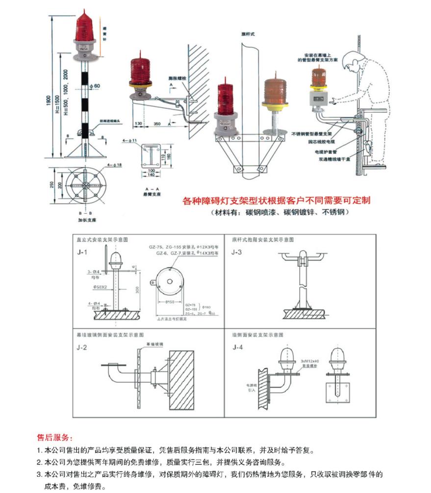TGZ-122LED硅太阳能航空障碍灯